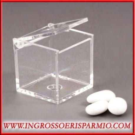 Scatole plexiglass trasparenti 5x5x5 portaconfetti prezzi for Scatole fai da te