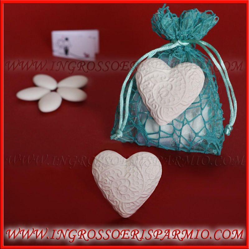 Matrimonio Tema Cuore : Gessetti profumati segnaposto cuore grande tema amore