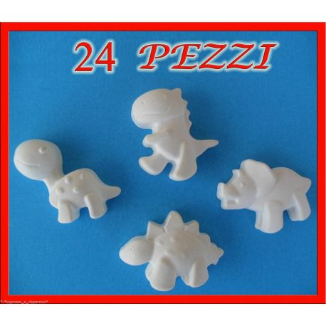 24 Gessetti Gessi profumati orsetto leone ippopotamo 3x4