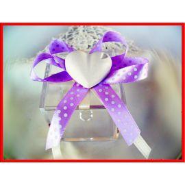Confettata Matrimonio Scatola Plex Fiocco Pois + Gessetto Cuore