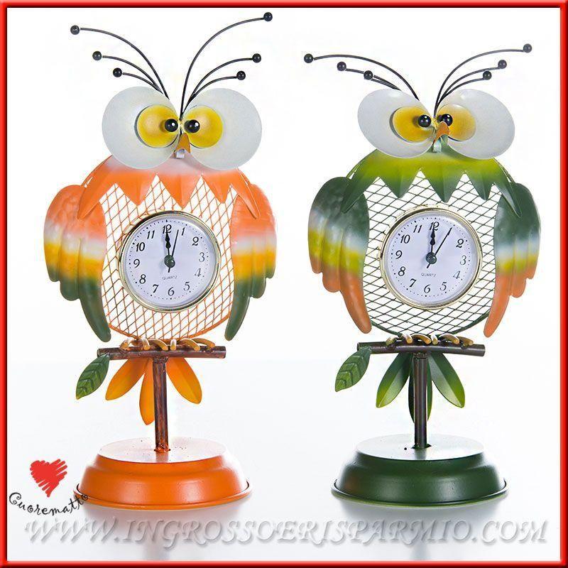 Orologio da parete tavolo a gufo cuorematto vintage per for Idee per orologio da parete