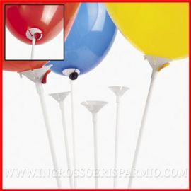 100 PZ ASTE VALVOLE PER PALLONCINI IN PLASTICA BIANCHE STECCHE PALLONI IN MANO ECONOMICI ACCESSORI PARTY FESTE ONLINE