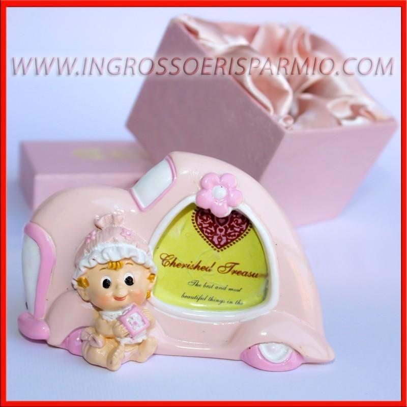 Portafoto macchinina rosa bimba cornice elegante anche confezionate ingrosso e risparmio - Portafoto thun prezzi ...