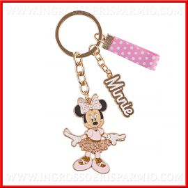 PORTACHIAVI IN METALLO DISNEY CON CIONDOLO MINNIE BALLERINA DISNEY ORIGINALI