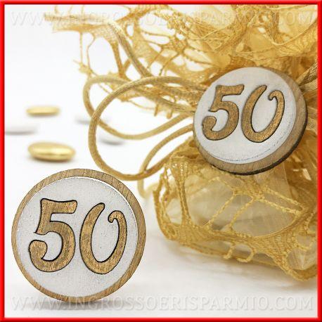 Anniversario Matrimonio 50 Anni.Accessori In Legno Per Confezioni 50 Anni Di Matrimonio Ingrosso