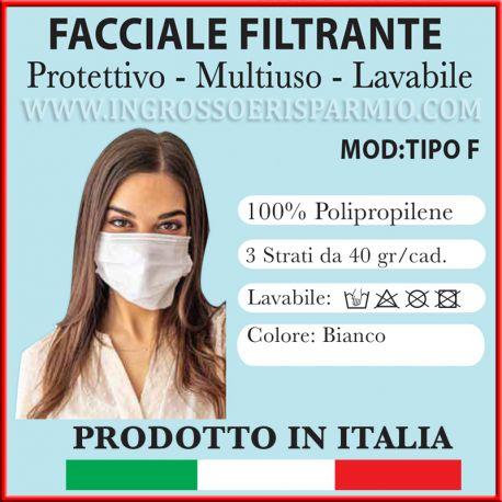 MASCHERINA 3 STRATI POLIPROPILENE USO CIVILE ANTIVIRUS MADE IN ITALY ALTA QUALITA FABBRICA ITALIANA CORONAVIRUS INGROSSO