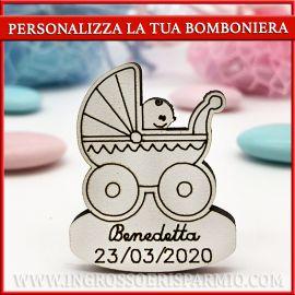 DECORAZIONI LEGNO PERSONALIZZATE PASSEGGINO BABY NASCITA BAMBINO BAMBINA IDEE