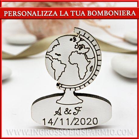 DECORAZIONI A FORMA DI MAPPAMONDO DA PERSONALIZZARE MATRIMONIO LAUREA CON INCISIONE