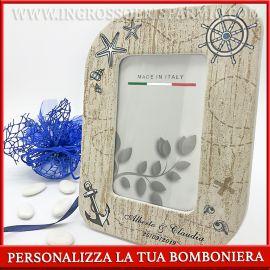 PORTAFOTO BOMBONIERE TEMA MARE CORNICI PERSONALIZZATE MATRIMONIO COMUNIONE