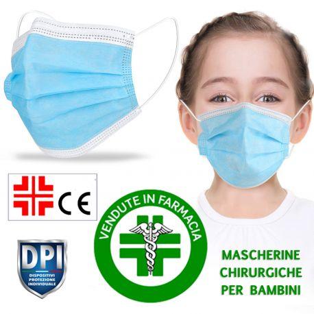 MASCHERINE CHIRURGICHE BAMBINI MASCHIO FEMMINA SMALL KIDS DISPOSITIVI PROTEZIONE FACCIALI FACE MASK ECONOMICHE CERTIFICATE CE