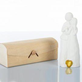 COPPIA LUI LEI SPOSI INNAMORATI CON CUORE MATRIMONIO SOLIDALI BOMBONIERE NOZZE CUOREMATTO