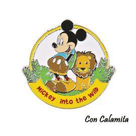 CALAMITE DISNEY TOPOLINO CON LEONE COMPLEANNO BAMBINO METALLO BOMBONIERE ORIGINALI TEMA WILD PRIMO ANNO