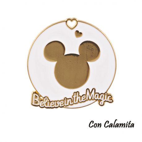 CALAMITE DISNEY BIANCO E ORO MICKEY BATTESIMO COMUNIONE MASCHIO FEMMINA PENSIERINI ORIGINALI