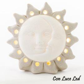 SOLE E LUNA MINI LAMPADA LED IDEE BOMBONIERE ORIGINALI MATRIMONIO BATTESIMO COMUNIONE