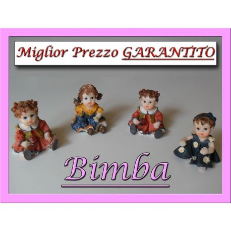 Bimbe in resina colorata Bimba
