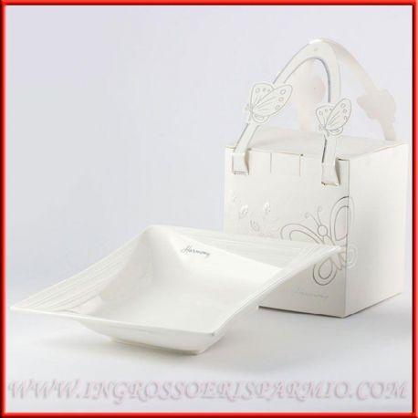 Prezzi Bomboniere Matrimonio.Svuotatasche Porcellana Bianca Quadrato Nozze Prezzi Offerta Ingrosso E Risparmio