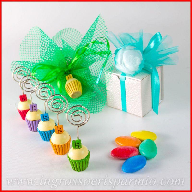Memoclip cupcake 18 compleanno segnaposto dolcetti aprifesta idee ingrosso e risparmio - Idee per segnaposto ...
