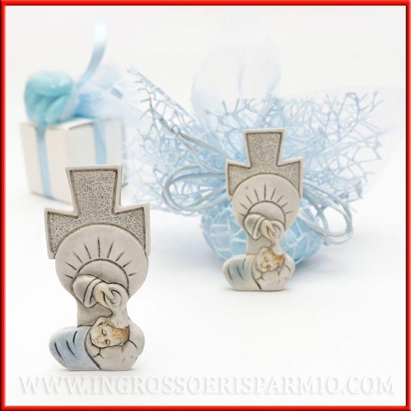 Idee bomboniere battesimo bambino con croce e fonte - Idee per battesimo bimbo ...