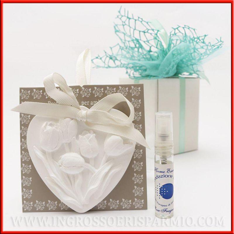 Gessetti profumati cuore con fiori diffusori per ambiente - Profumatori casa ...