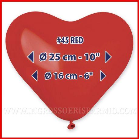 100 PZ PALLONCINI A FORMA DI CUORE ROSSI MATRIMONIO SAN VALENTINO LOVE GRANDI PICCOLI RED QUALITA