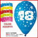 "100 PZ PALLONCINI COLORATI 18 COMPLEANNO 12""/30CM BALLOON PARTY"