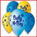 100 PZ PALLONCINI NASCITA/COMPLEANNO BIMBO ORSETTO BABY BOY BALLOON STORE