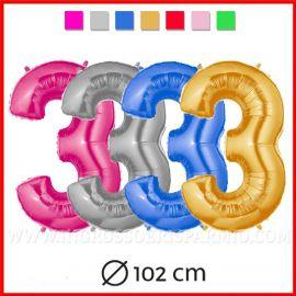 PALLONCINI A FORMA DI NUMERO 3 TRE VERDE ROSSO ROSA BLU 102CM 1 MT ARTICOLI PER FESTE INGROSSO MYLAR FOIL ONLINE