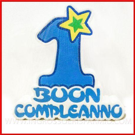 Numero 1 In Polistirolo Per Addobbi Feste Primo Compleanno Bimbo