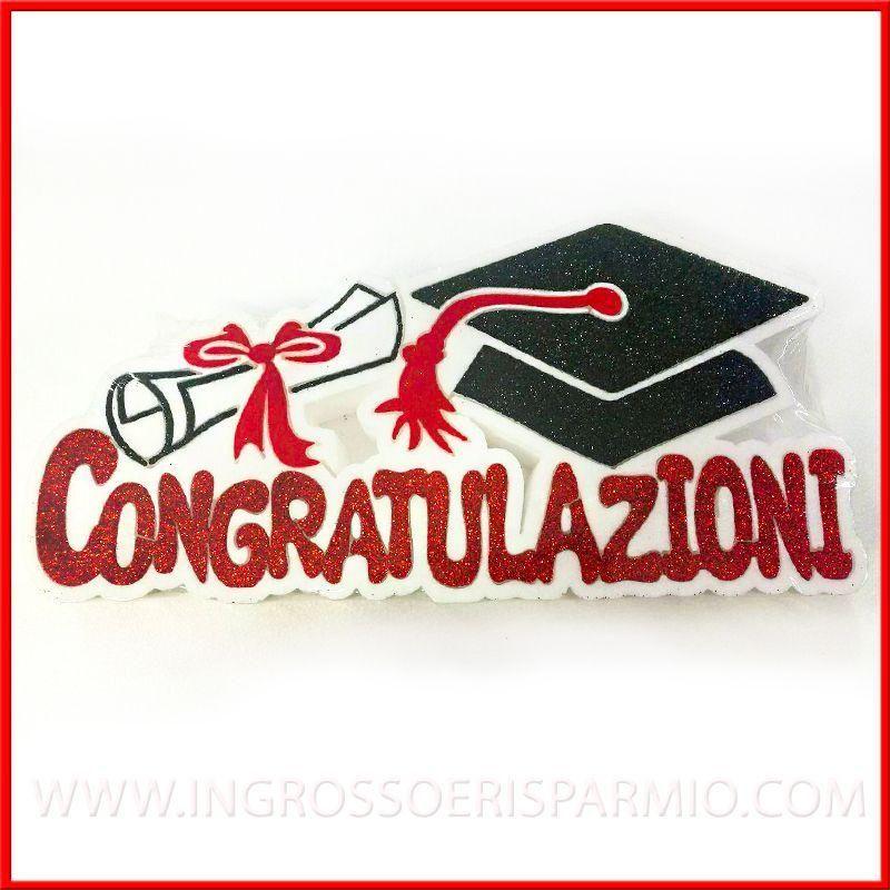 Decorazioni laurea in polistirolo sagomato con tocco e for Addobbi per laurea