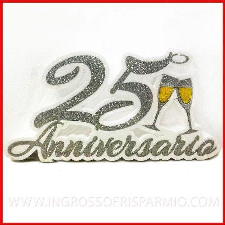 Xxv Anniversario Di Matrimonio.Scritta In Polistirolo 25 Anniversario Nozze D Argento Addobbi Ingrosso E Risparmio