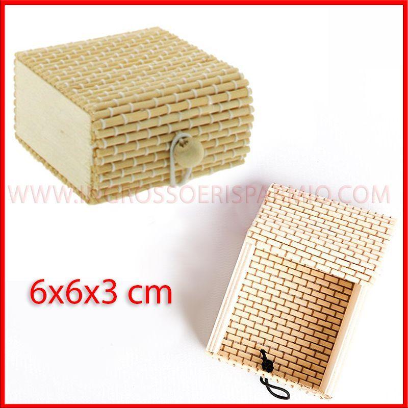 Scatole legno bamboo portaconfetti fai da te matrimonio for Scatole fai da te