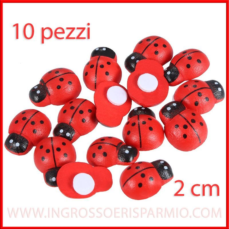 10 applicazioni coccinella rossa portafortuna adesive - Portafortuna fai da te ...