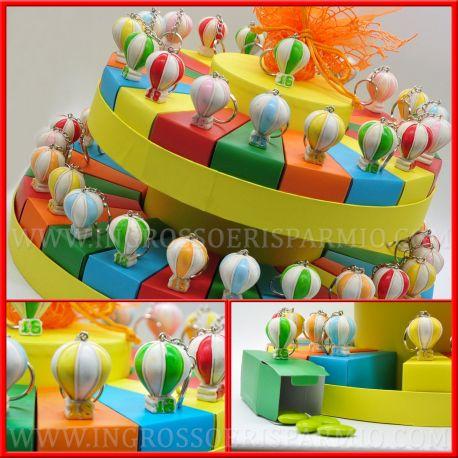 Torte bomboniere portachiavi 18 anni mongolfiere colorate for Torte 18 anni ragazzo