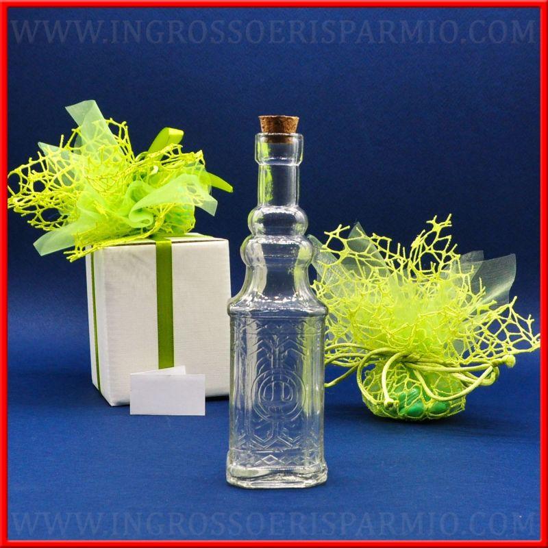 Bottiglie con tappo in sughero vetro decorate offerta - Bottiglie vetro decorate ...