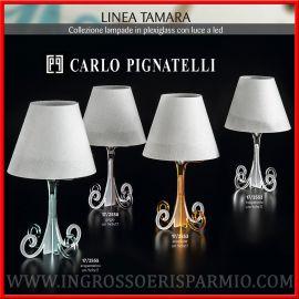 LAMPADE DA TAVOLO CARLO PIGNATELLI CON LED BOMBONIERE MATRIMONIO 2018 BASE IN PLEXIGLASS COLORATA
