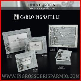 CORNICI, OROLOGIO E SCATOLA IN LEGNO DECORO GABBIETTA PIGNATELLI MATRIMONIO