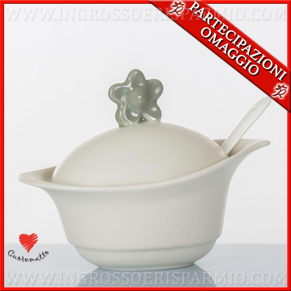 Estremamente Bomboniere ceramica porcellana matrimonio comunione nascita  NX81