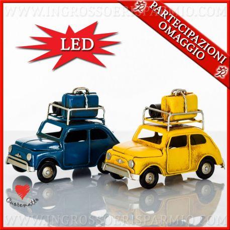 LAMPADA lLED DA COMODINO AUTO IN METALLO CUOREMATTO COMUNIONE NUOVA COLLEZIONE