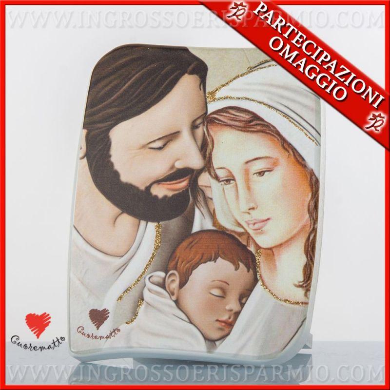 Quadri sacra famiglia firmati cuorematto bomboniere for Quadri immagini sacre moderni