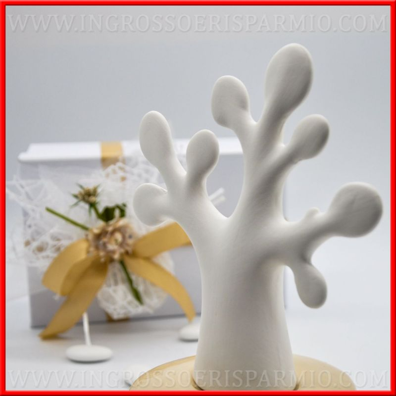 Profumatori Ambiente Design Albero Ceramica Beige Con