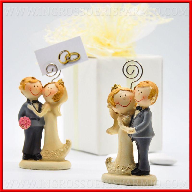 Segnaposto matrimonio sposini con clip resina originali for Resina fai da te