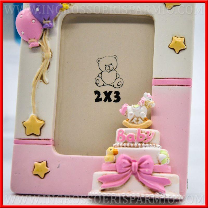 cornici per foto bimbi torta battesimo compleanno