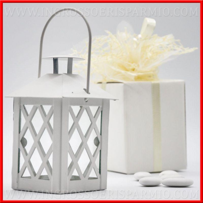 Lanterne decorative portacandela bianche anche battesimo for Lanterne bianche