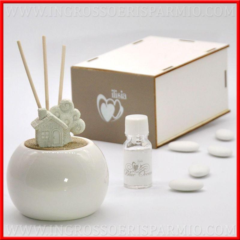 Diffusori essenze profumate casa e albero ceramica bianca for Ceramica in casa