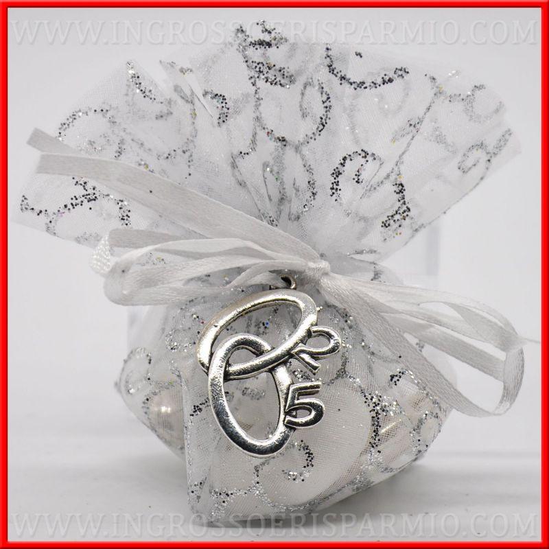 Fedi intrecciate nozze d 39 argento 25 ciondoli per accessori for Regali per un 25esimo di matrimonio