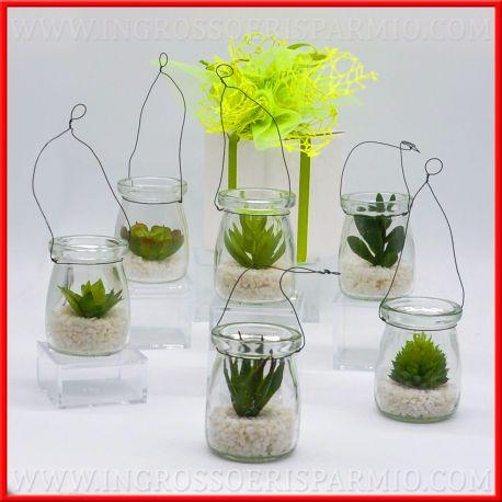 Bomboniere piante grasse artificiali piccole in vasetto for Vendita piante grasse on line