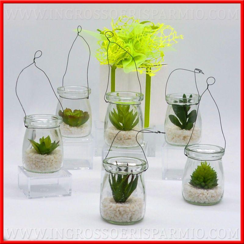 Bomboniere piante grasse artificiali piccole in vasetto for Piccole piantine