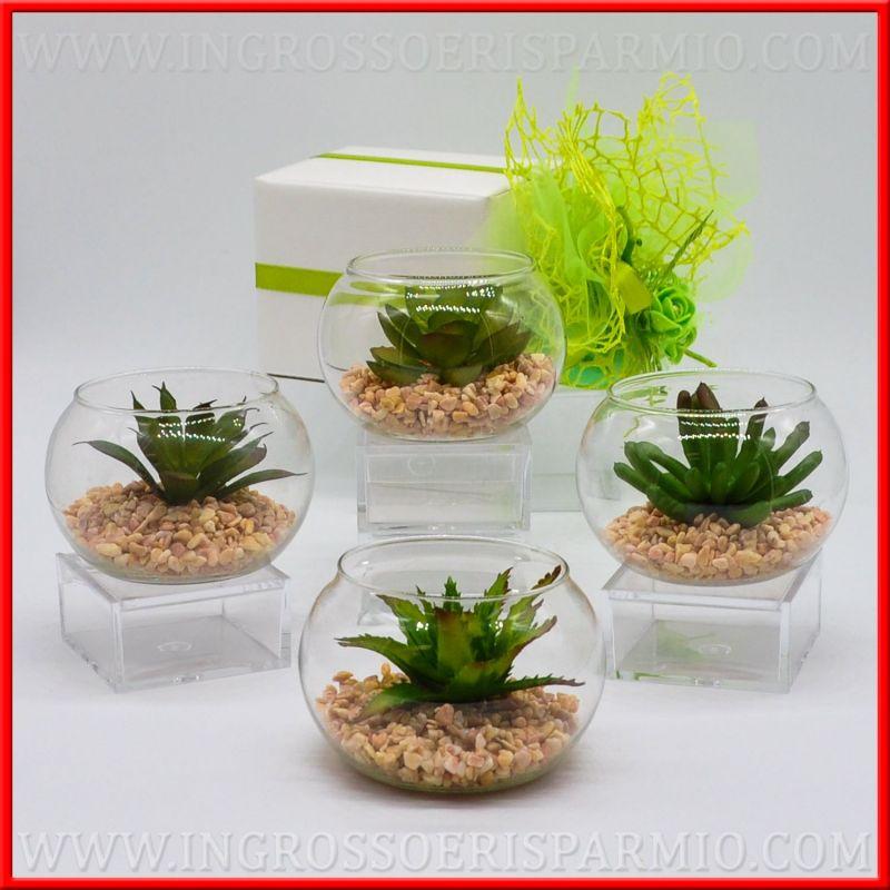 piante grasse finte con vasi vetro novita 39 matrimonio