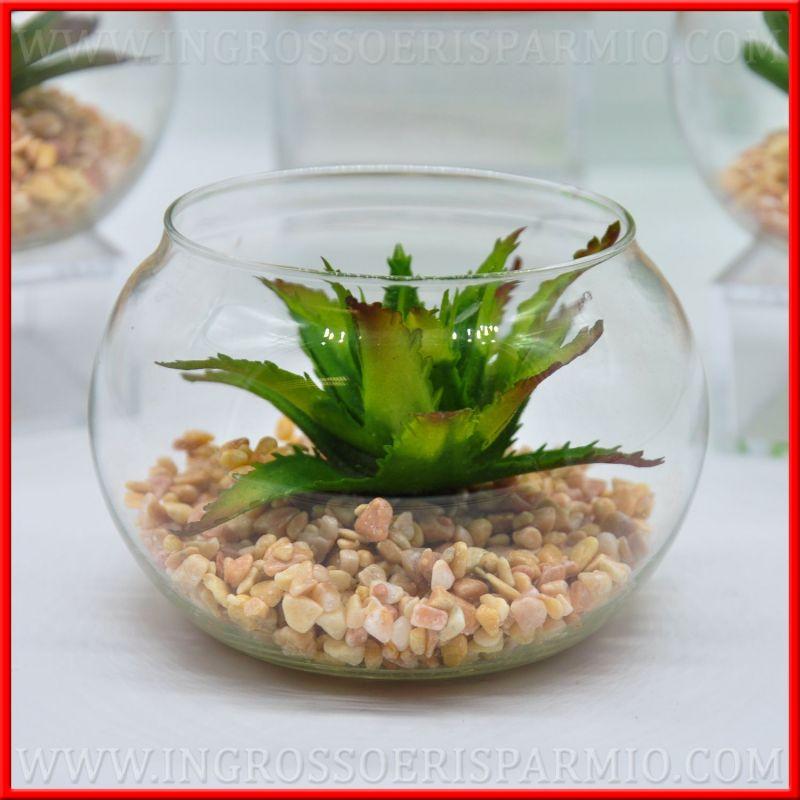 Piante grasse finte con vasi vetro novita 39 matrimonio - Vasi con piante grasse ...