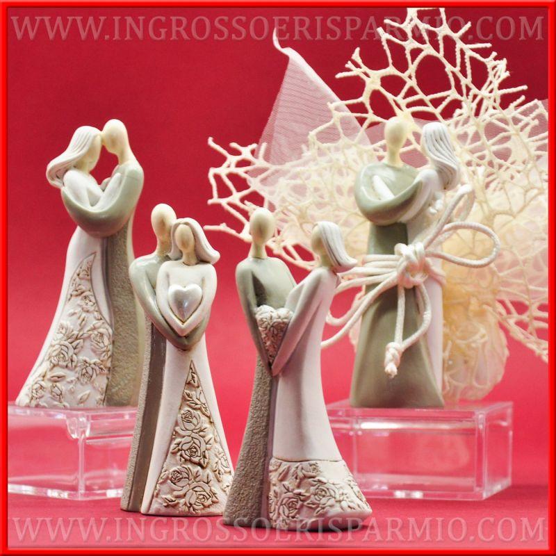 Matrimonio Tema Cuore : Statuine sposi cuore romantici originali idee per nozze